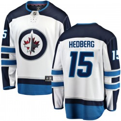 Anders Hedberg Winnipeg Jets Youth Fanatics Branded White Breakaway Away Jersey