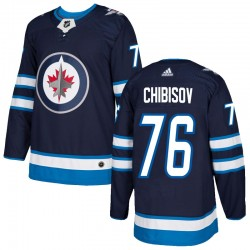 Andrei Chibisov Winnipeg Jets Men's Adidas Authentic Navy Home Jersey