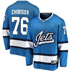Andrei Chibisov Winnipeg Jets Men's Fanatics Branded Blue Breakaway Alternate Jersey