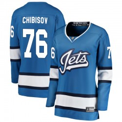 Andrei Chibisov Winnipeg Jets Women's Fanatics Branded Blue Breakaway Alternate Jersey