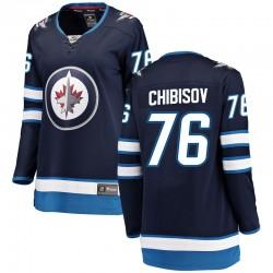 Andrei Chibisov Winnipeg Jets Women's Fanatics Branded Blue Breakaway Home Jersey