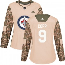 Andrew Copp Winnipeg Jets Women's Adidas Authentic Camo Veterans Day Practice Jersey
