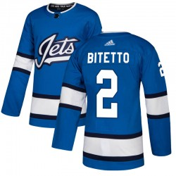 Anthony Bitetto Winnipeg Jets Men's Adidas Authentic Blue Alternate Jersey
