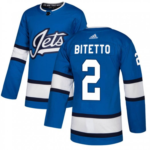 Anthony Bitetto Winnipeg Jets Men's Adidas Authentic Blue Alternate Jersey