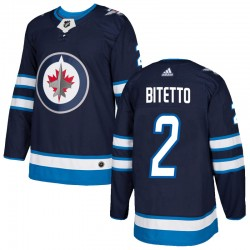 Anthony Bitetto Winnipeg Jets Men's Adidas Authentic Navy Home Jersey