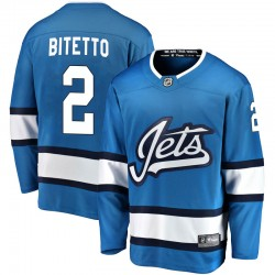 Anthony Bitetto Winnipeg Jets Men's Fanatics Branded Blue Breakaway Alternate Jersey