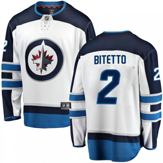 Anthony Bitetto Winnipeg Jets Men's Fanatics Branded White Breakaway Away Jersey