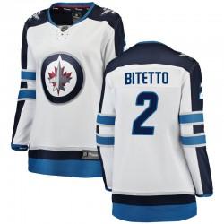 Anthony Bitetto Winnipeg Jets Women's Fanatics Branded White Breakaway Away Jersey
