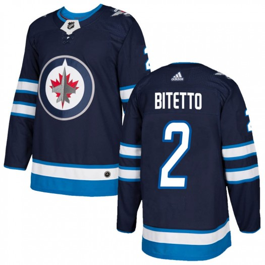 Anthony Bitetto Winnipeg Jets Youth Adidas Authentic Navy Home Jersey