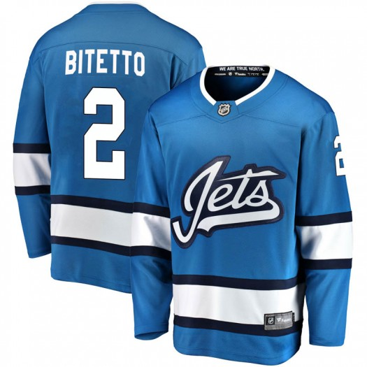 Anthony Bitetto Winnipeg Jets Youth Fanatics Branded Blue Breakaway Alternate Jersey