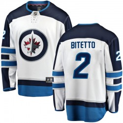 Anthony Bitetto Winnipeg Jets Youth Fanatics Branded White Breakaway Away Jersey
