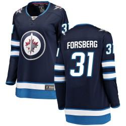 Anton Forsberg Winnipeg Jets Women's Fanatics Branded Blue Breakaway Home Jersey