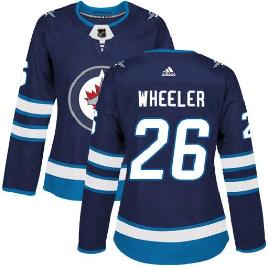 Blake Wheeler Winnipeg Jets Women's Adidas Authentic Navy Blue Home Jersey
