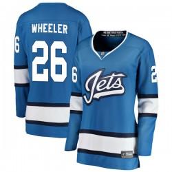 Blake Wheeler Winnipeg Jets Women's Fanatics Branded Blue Breakaway Alternate Jersey