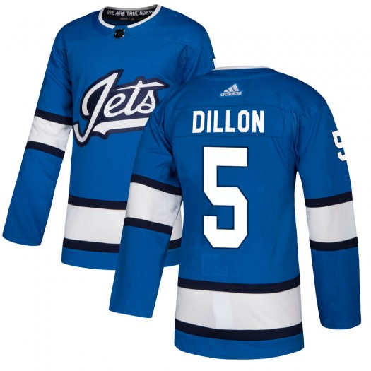 Brenden Dillon Winnipeg Jets Men's Adidas Authentic Blue Alternate Jersey