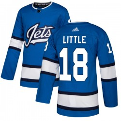 Bryan Little Winnipeg Jets Men's Adidas Authentic Blue Alternate Jersey