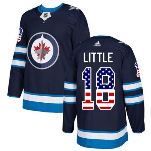 Bryan Little Winnipeg Jets Men's Adidas Authentic Navy Blue USA Flag Fashion Jersey