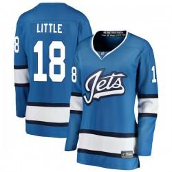 Bryan Little Winnipeg Jets Women's Fanatics Branded Blue Breakaway Alternate Jersey