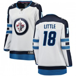 Bryan Little Winnipeg Jets Women's Fanatics Branded White Breakaway Away Jersey