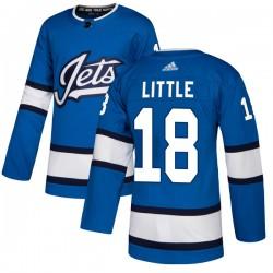 Bryan Little Winnipeg Jets Youth Adidas Authentic Blue Alternate Jersey