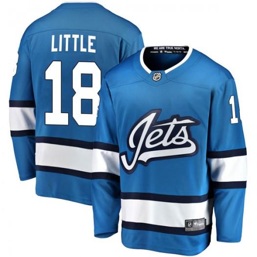 Bryan Little Winnipeg Jets Youth Fanatics Branded Blue Breakaway Alternate Jersey