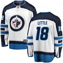 Bryan Little Winnipeg Jets Youth Fanatics Branded White Breakaway Away Jersey