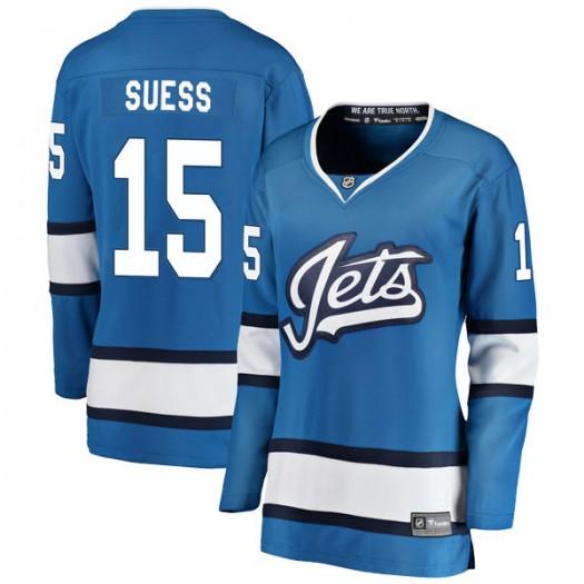 C.J. Suess Winnipeg Jets Women's Fanatics Branded Blue Breakaway Alternate Jersey