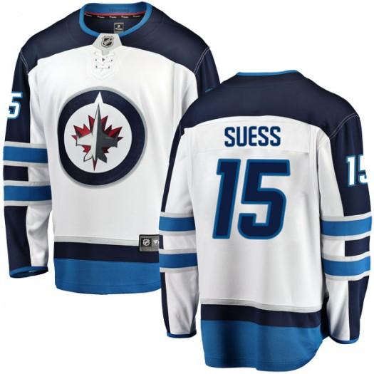 C.J. Suess Winnipeg Jets Youth Fanatics Branded White Breakaway Away Jersey