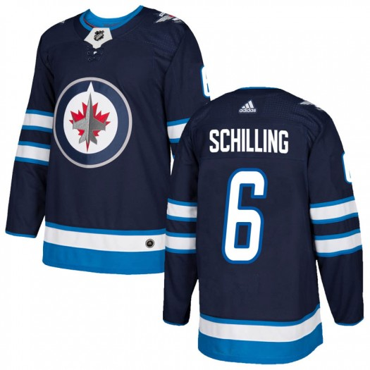 Cameron Schilling Winnipeg Jets Men's Adidas Authentic Navy Home Jersey