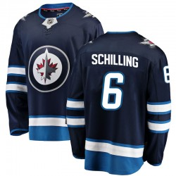 Cameron Schilling Winnipeg Jets Men's Fanatics Branded Blue Breakaway Home Jersey