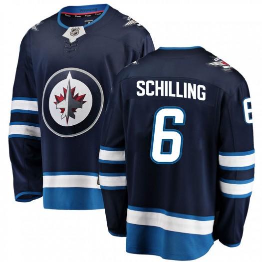 Cameron Schilling Winnipeg Jets Men's Fanatics Branded Blue Breakaway Home Jersey