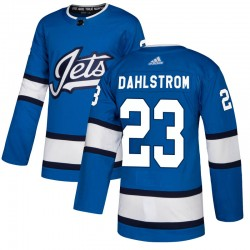 Carl Dahlstrom Winnipeg Jets Men's Adidas Authentic Blue Alternate Jersey