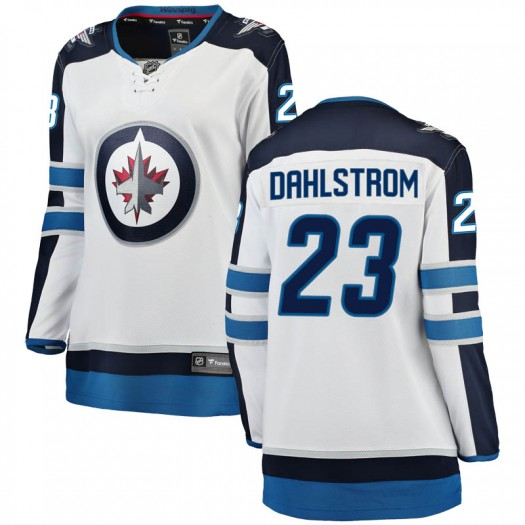 Carl Dahlstrom Winnipeg Jets Women's Fanatics Branded White Breakaway Away Jersey