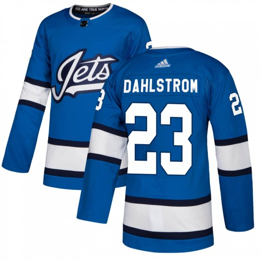 Carl Dahlstrom Winnipeg Jets Youth Adidas Authentic Blue Alternate Jersey
