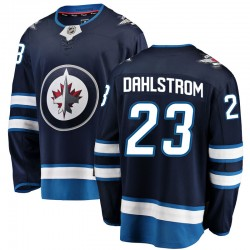 Carl Dahlstrom Winnipeg Jets Youth Fanatics Branded Blue Breakaway Home Jersey