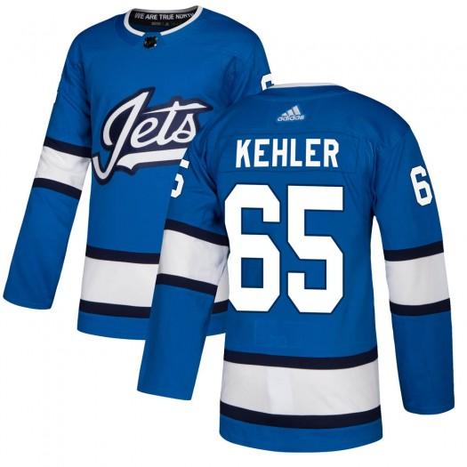 Cole Kehler Winnipeg Jets Men's Adidas Authentic Blue Alternate Jersey