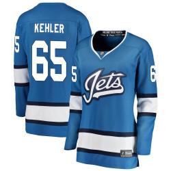 Cole Kehler Winnipeg Jets Women's Fanatics Branded Blue Breakaway Alternate Jersey
