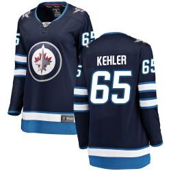 Cole Kehler Winnipeg Jets Women's Fanatics Branded Blue Breakaway Home Jersey