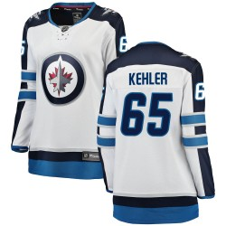 Cole Kehler Winnipeg Jets Women's Fanatics Branded White Breakaway Away Jersey