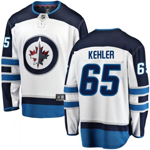 Cole Kehler Winnipeg Jets Youth Fanatics Branded White Breakaway Away Jersey