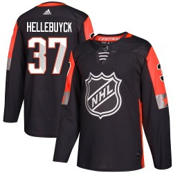 Connor Hellebuyck Winnipeg Jets Men's Adidas Authentic Black 2018 All-Star Central Division Jersey