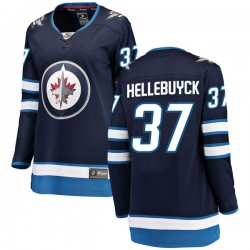 Connor Hellebuyck Winnipeg Jets Women's Fanatics Branded Blue Breakaway Home Jersey