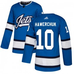 Dale Hawerchuk Winnipeg Jets Men's Adidas Authentic Blue Alternate Jersey