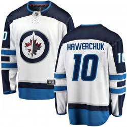 Dale Hawerchuk Winnipeg Jets Men's Fanatics Branded White Breakaway Away Jersey