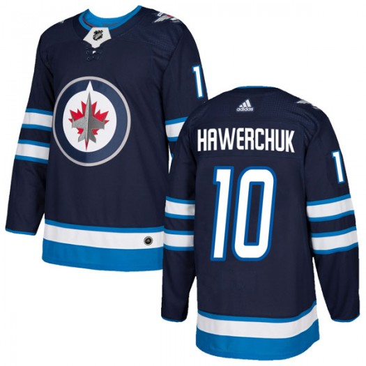 Dale Hawerchuk Winnipeg Jets Youth Adidas Authentic Navy Home Jersey