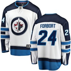 Derek Forbort Winnipeg Jets Men's Fanatics Branded White Breakaway Away Jersey
