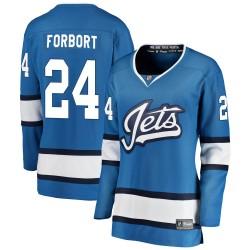 Derek Forbort Winnipeg Jets Women's Fanatics Branded Blue Breakaway Alternate Jersey