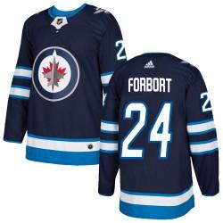 Derek Forbort Winnipeg Jets Youth Adidas Authentic Navy Home Jersey