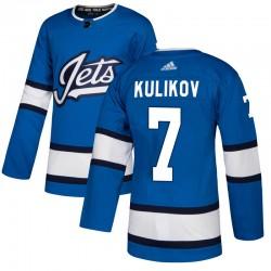 Dmitry Kulikov Winnipeg Jets Men's Adidas Authentic Blue Alternate Jersey
