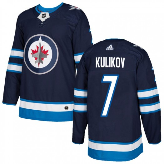 Dmitry Kulikov Winnipeg Jets Men's Adidas Authentic Navy Home Jersey